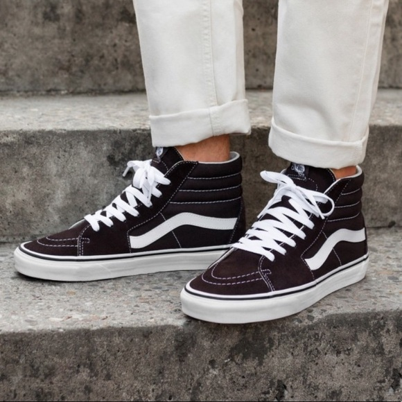 0db80146a6 NWT VANS SK-8 HI Chocolate 🍫 Torte W AUTHENTIC